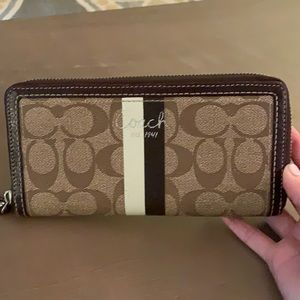 Coach zip around wallet